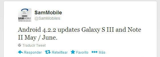 Actualizacion Galaxy S3 Galaxy Note 2 Android 422