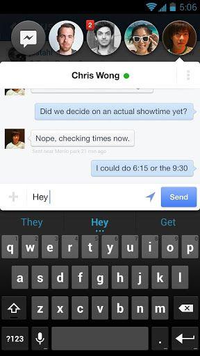 Facebook Home Messenger