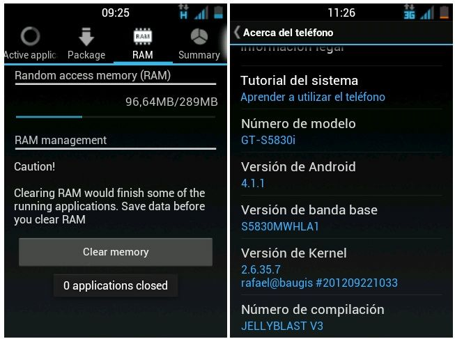 Mejores ROMs Android 4.1 - JellyBlast Galaxy Ace-