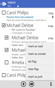Outlook para Android 2