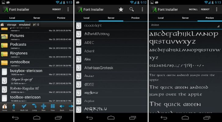 cambiar fuentes android root