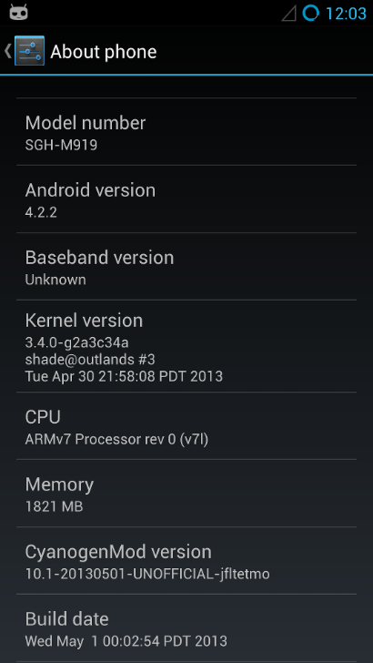 Galaxy S4 CyanogenMod