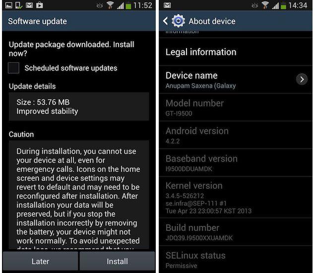 Actualizar Galaxy S4 via OTA