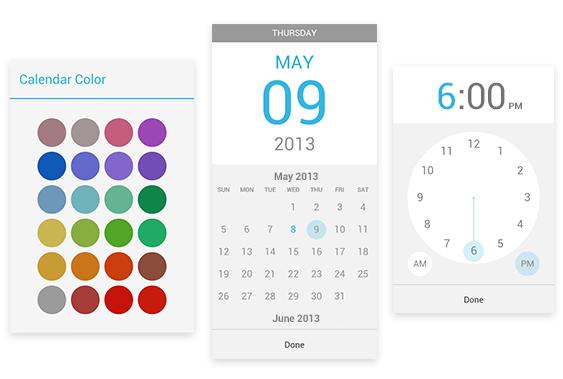 Google Calendar Seleccion de colores