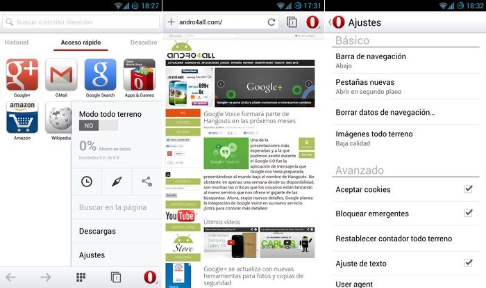 Opera 14 Interfaz de Usuario