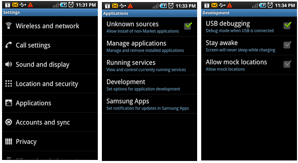 Root Sony Xperia Z USB Debugging
