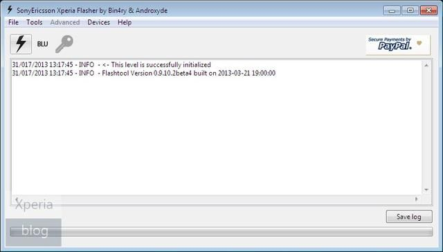 Update Sony Xperia S FlashTool