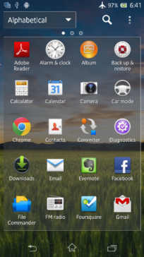Android 4.2.2 Sony Xperia Z 3