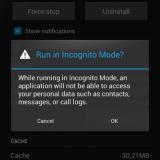 CyanogenMod Modo incognito