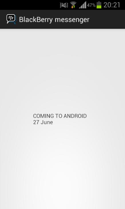 Falso BBM para Android