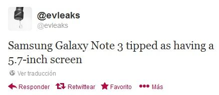 Galaxy Note 3 pantalla 5.7