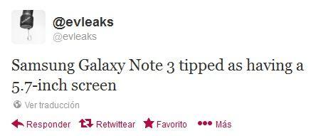 Galaxy Note 3 pantalla 5.7
