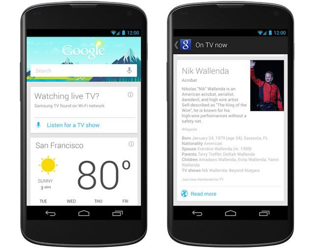 Google Now Tarjetas TV