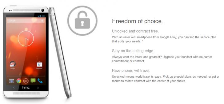 HTC One Google Edition Google PLAY