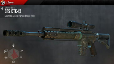Modern Combat 4 Meltdown Sniper Rifle