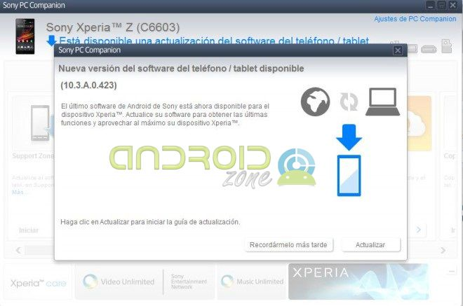 Xperia Z Android 42 AZ
