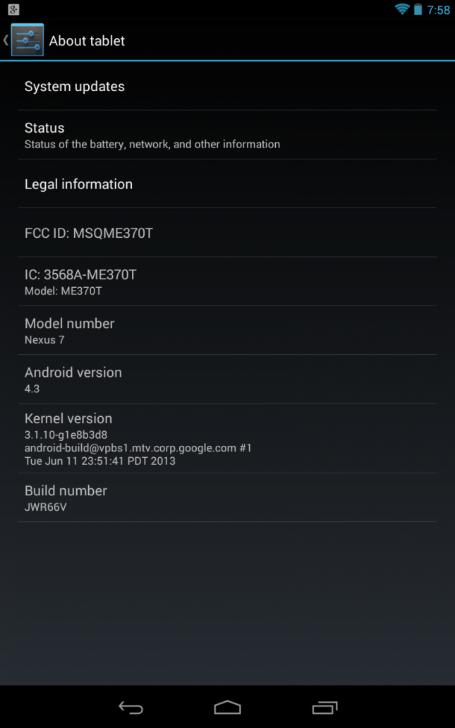 Actualizar Nexus 4, 7 y Galaxy Nexus Android 43