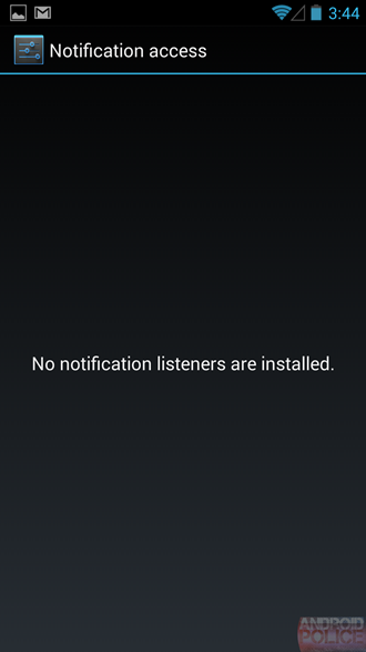 Android 4.3 Notificaciones Listeners
