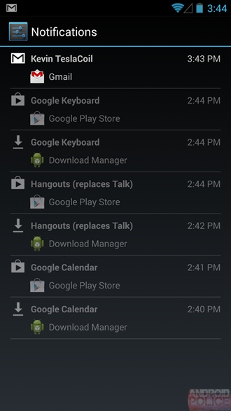 Android 4.3 Notificaciones