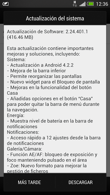 HTC One Android 422