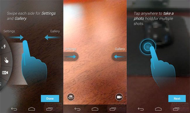 Interface Moto X