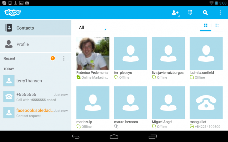 Skype 4.0 para Android (3)