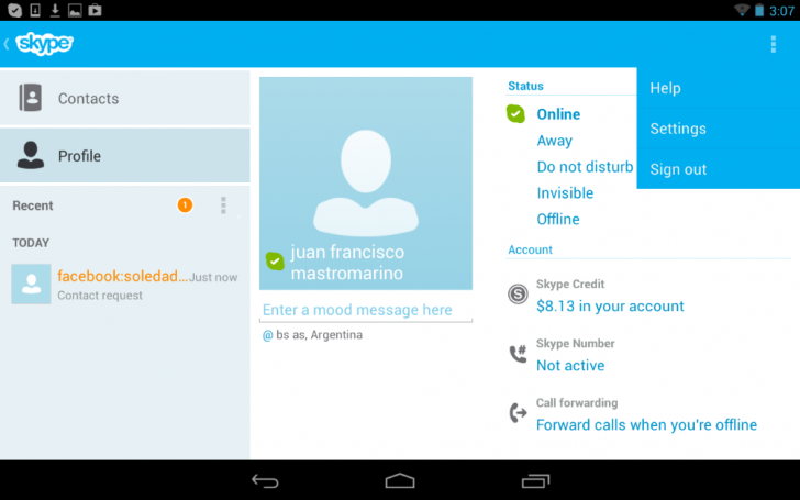 Skype 4.0 para Android (4)