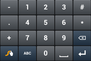 Teclado Swype numerico