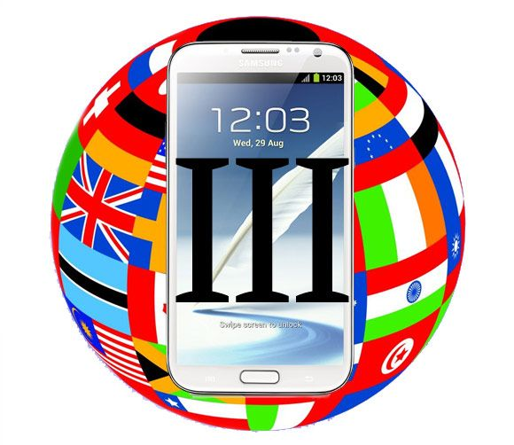 Galaxy Note 3 lista de paises