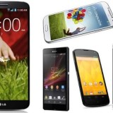 LG G2 vs Galaxy S4 vs Xperia Z vs HTC One