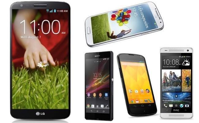 LG G2 vs Galaxy S4 vs Xperia Z vs HTC One