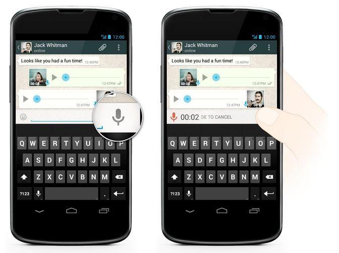 WhatsApp mensajes de voz