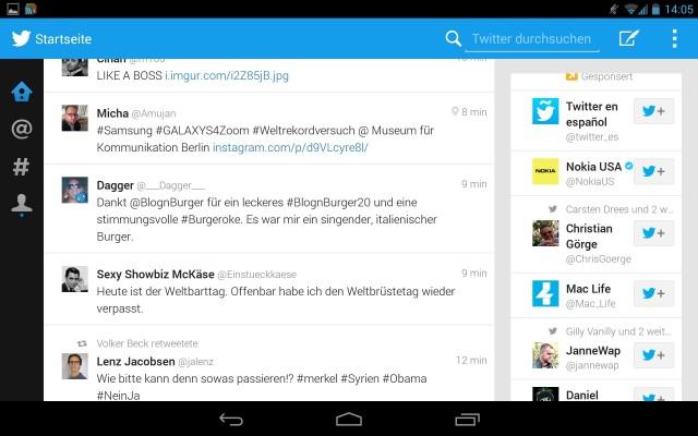 Descargar Twitter para Tablets