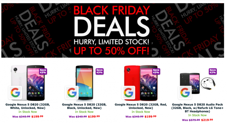 Nexus 5 Black Friday