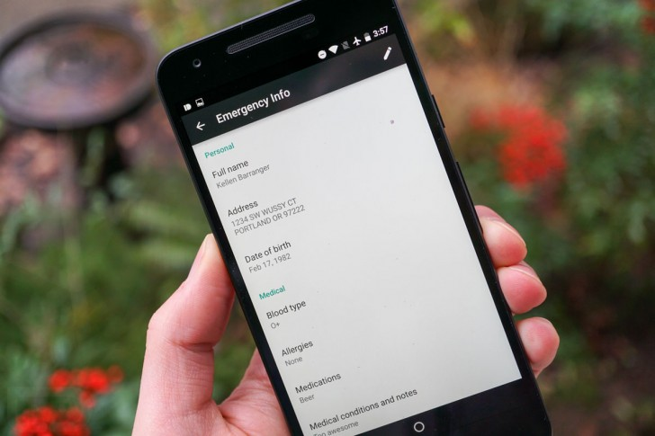 Android N - Informacion de Emergencia