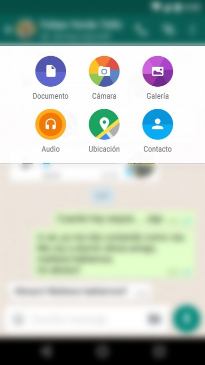 WhatsApp enviar documentos