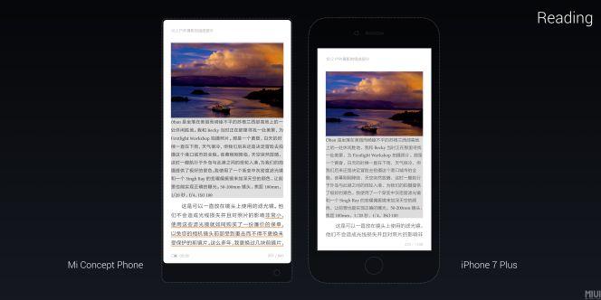 Xiaomi Mi Mix vs iPhone 7 Plus
