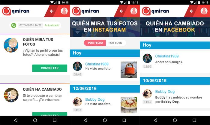 Capturas de pantalla de qmiras