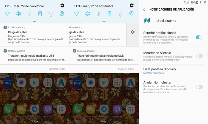 Silencia rnotificación Android 7 Nougat