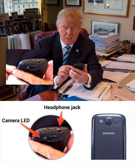 Donald Trump y su Galaxy S3