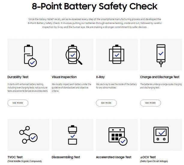 Samsung seguridad 8 puntos