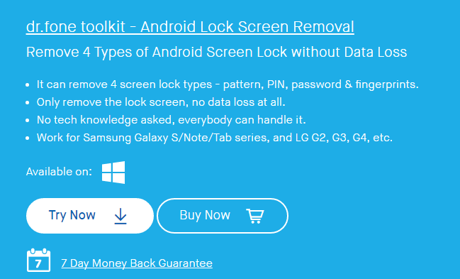 official drfone unlock android lock screen removal - 649×393